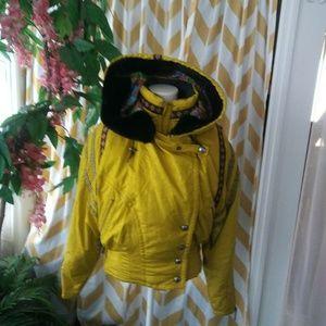 Head vintage Ladies Sz M Yellow Gold ski jacket